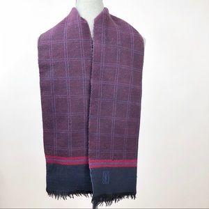 YSL plaid wool scarf
